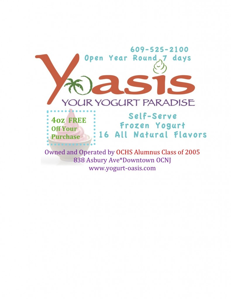 Yoasis invites you to the OCHS All Class Reunion in Downtown OCNJ